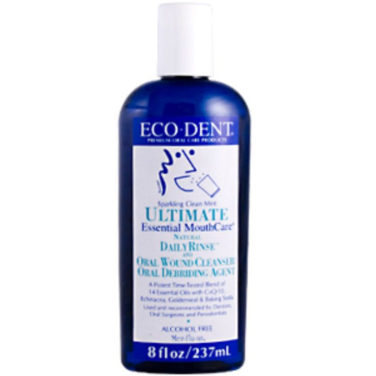 Eco-Dent, Ultimate Essential MouthCare, Daily Rinse & Oral Cleanser, Sparkling Clean Mint, 8 fl oz (236 ml)
