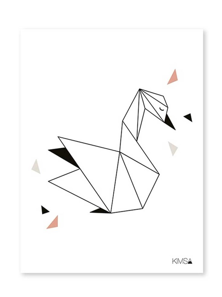 Lilipinso   Origami Play Swan – poster #feedesfleurs