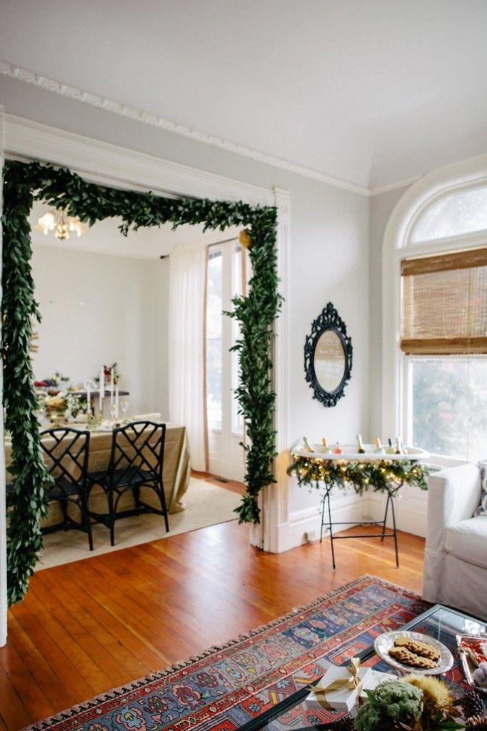 garland in door frame
