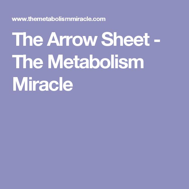 The Arrow Sheet - The Metabolism Miracle