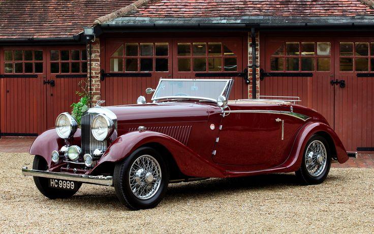 Véhicules 1934 Bentley Stylish Convertible  Fond d'écran