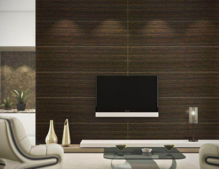 $25 Per Sqf Dark Oak Wood Wall Panels   Wood Veneer Panels   Wall Panels ·  Wood Living RoomsLiving Room ...