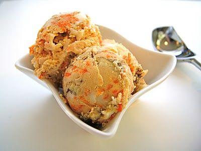 Carrot Cake Ice Cream with Cream Cheese Frosting Swirl