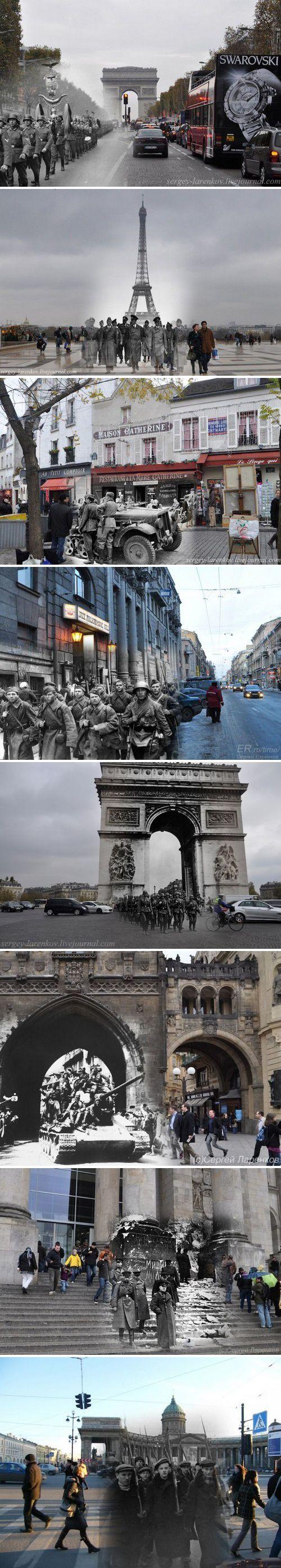 Foto-antigua-contemporánea. Fantasmas de la Segunda Guerra Mundial