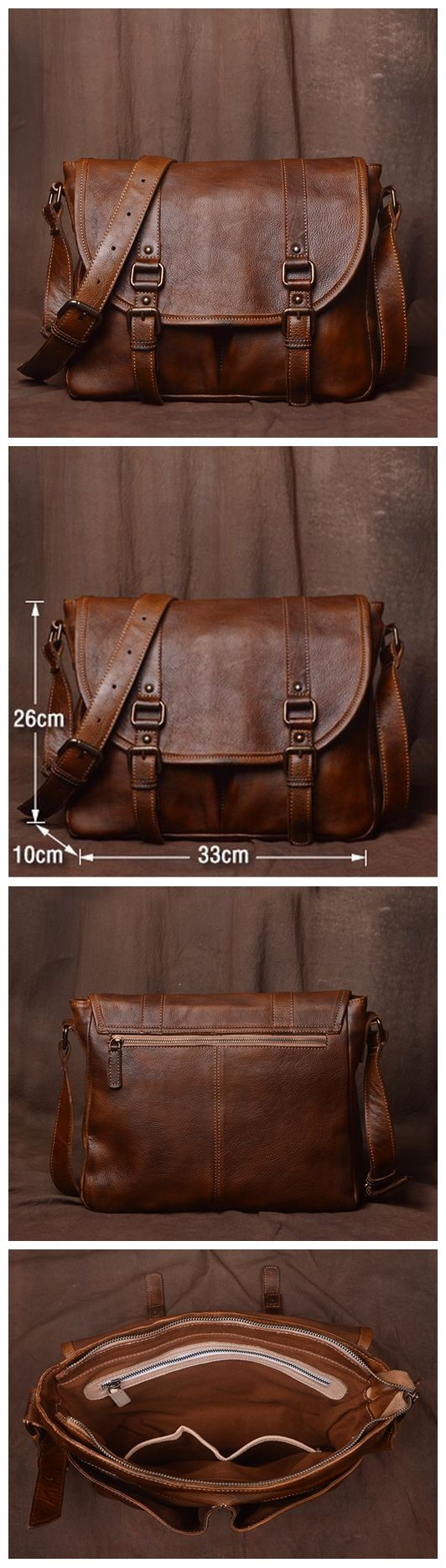 Mens Leather Bag, Leather Handmade Briefcase, Crossbody Business Bag JZ001