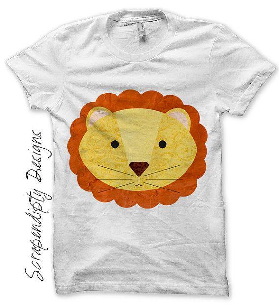 Lion Iron on Transfer Circus Iron on Shirt PDF Kids