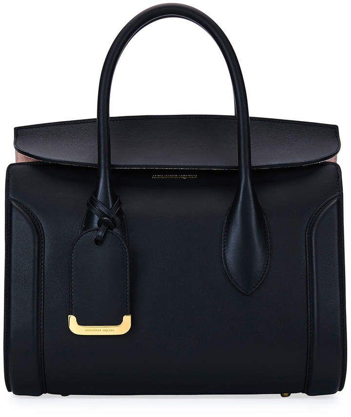 Alexander Mcqueen #Black #Handbag with #Gold Hardware | #Ad