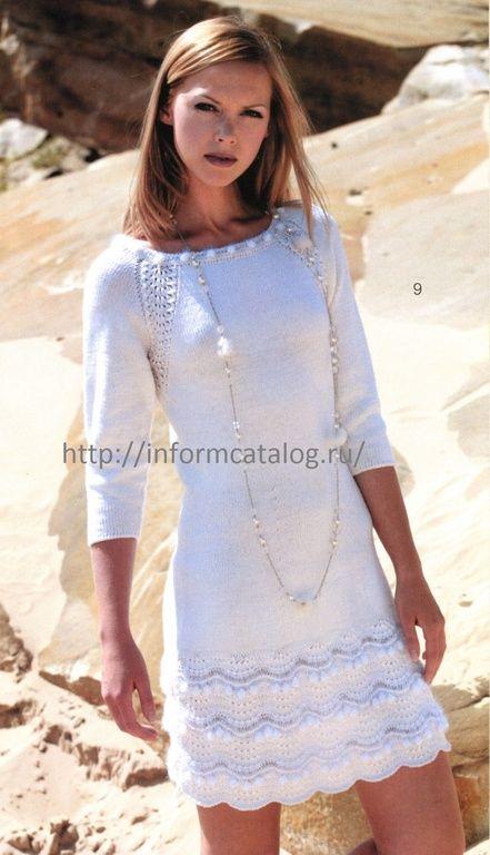 мини-платье спицами