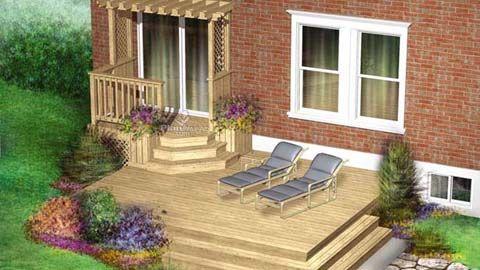 Terrasse deux niveaux