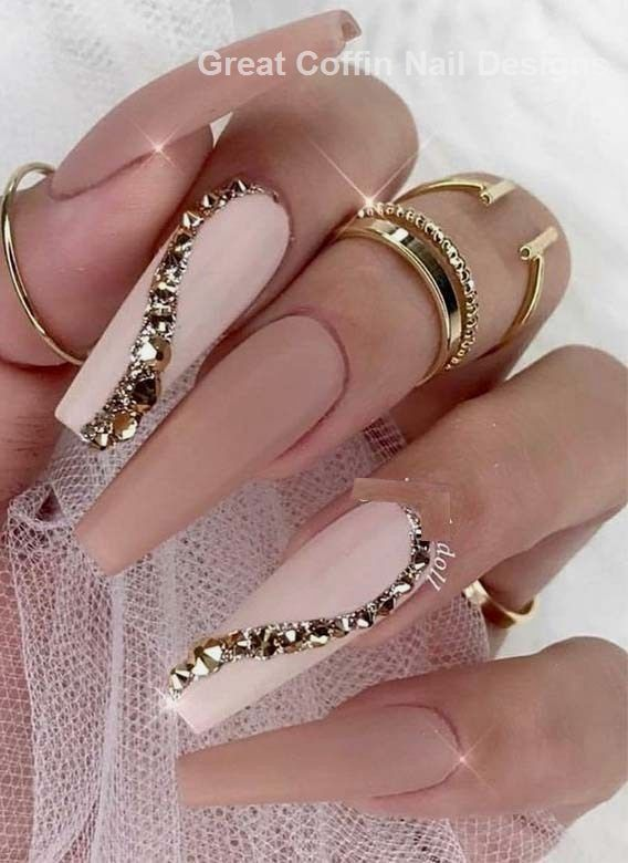 Wonderful ideas of long nails for new year   – Diy Coffin Nails