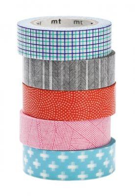 MT pásky single, washi tapes, japonské dekorační lepicí pásky z rýžového papíru, transparentní, popisovatelné, odnímatelné, hravé dekorace, papelote - nové české papírnictví