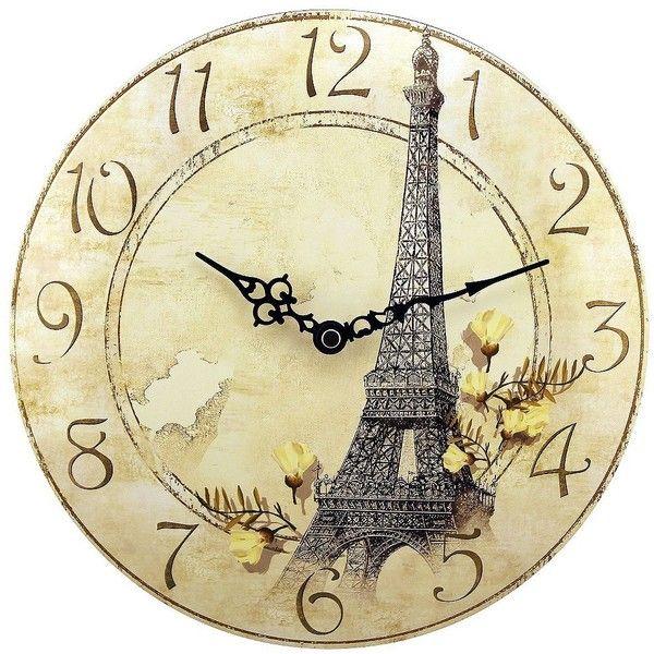 Paris Wall Clock found on Polyvore