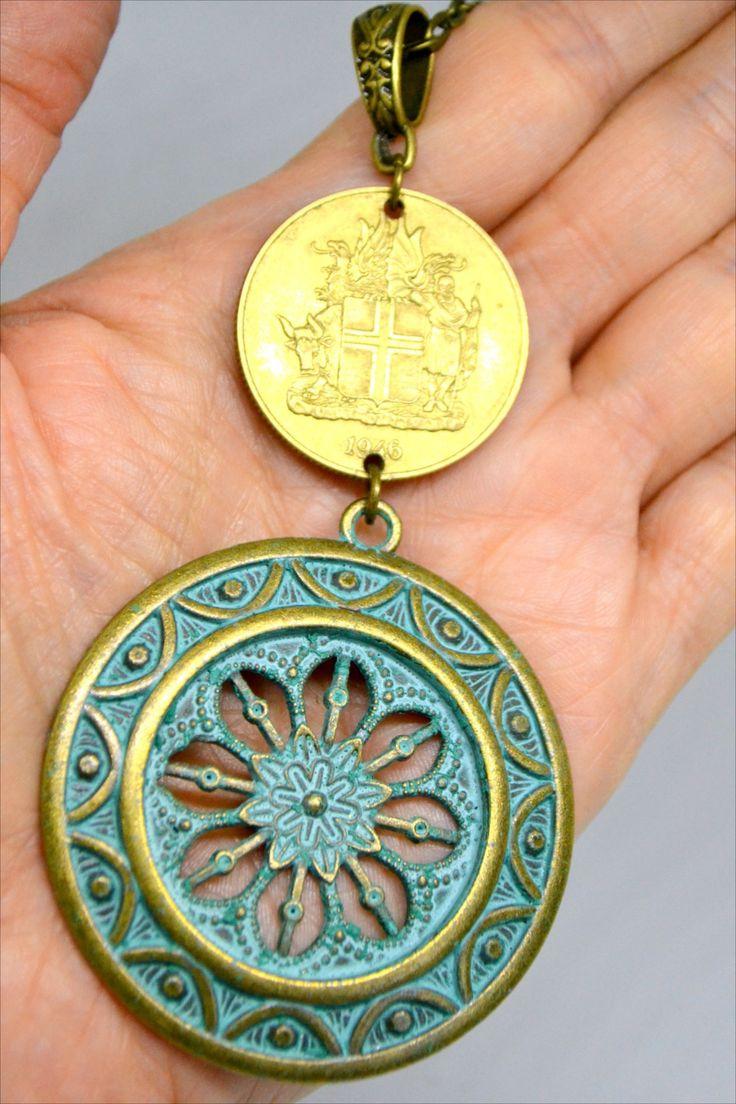 Large Icelandic Medallion Necklace in 2020 Medallion