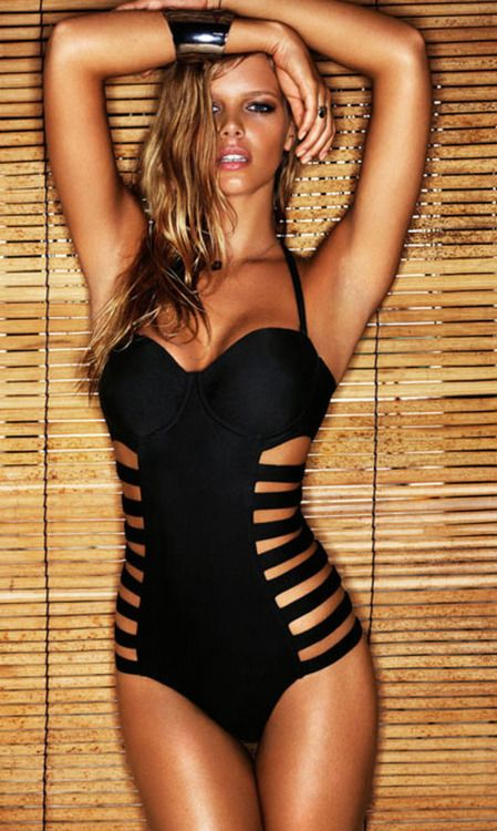 One-piece with cut-outs on the side... - this is hott!