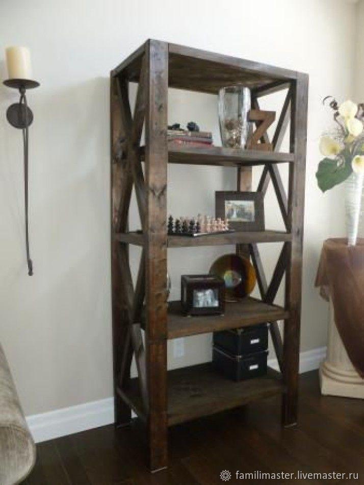 Купить Стеллаж в стиле Кантри. - коричневый, детская комната, детская мебель, для дома и интерьера