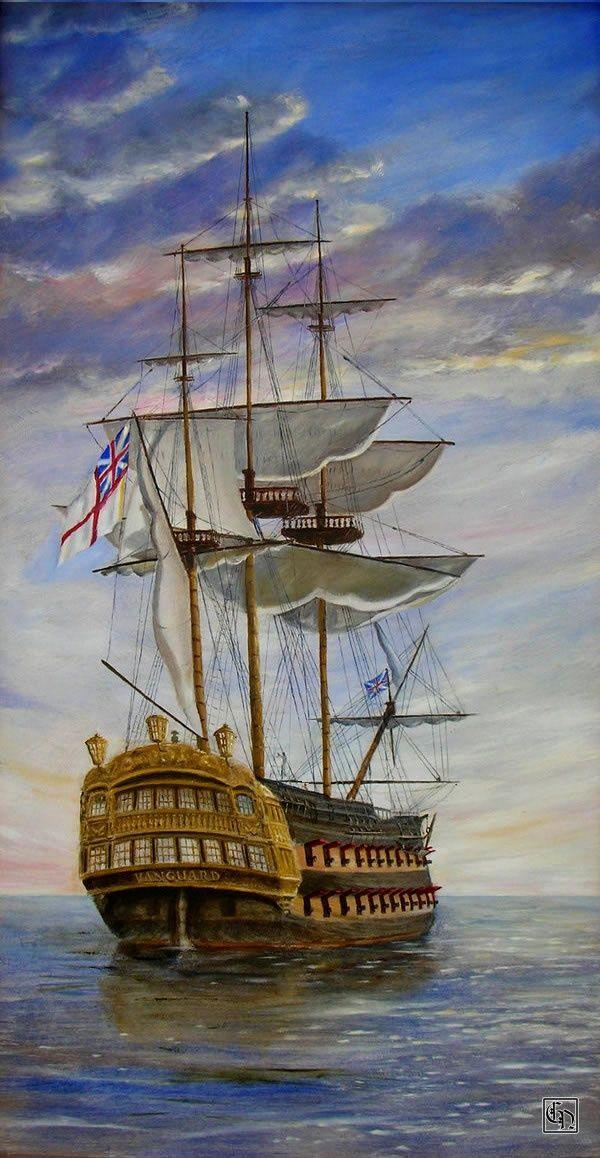 HMS Vanguard Royal Navy Ship Gord Napier.