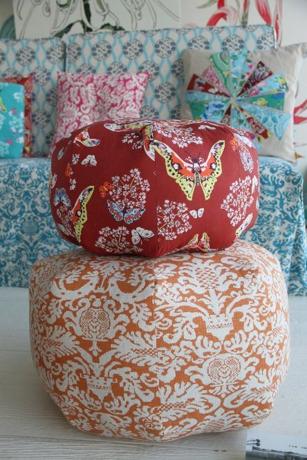 Amy Butler's Alchemy Fabrics with Gumdrop Pillows