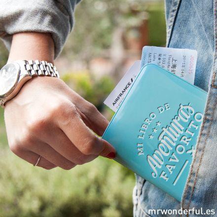 Funda para pasaporte - Mi libro de aventuras favorito #mrwonderfulshop #travel #holidays