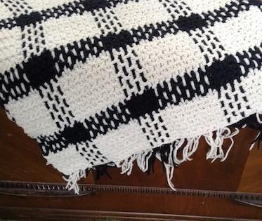 Plaid In B&W - Knitting creation by Debbie Pribele   Knit.Community