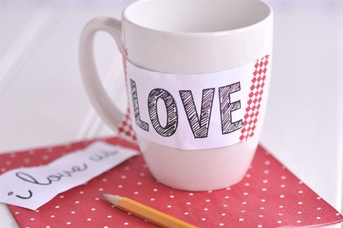 DIY Valentine's Sharpie Mugs - your homebased mom