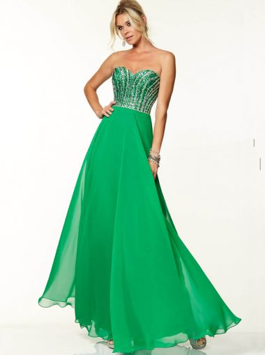 A-line Green Formal Dress Evening Dress/Prom Dress 2015 Parai 97037