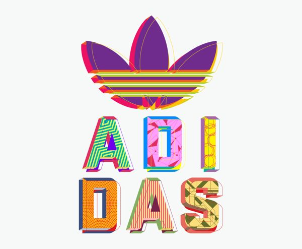 Adidas Originals Typography by Mario Clavasquin, via Behance