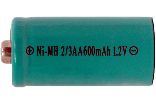 2/3 AA NiMH Button Top Battery (600 mAh)