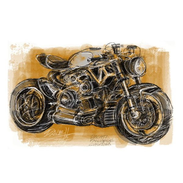 Dave Hendroff Illustrations Ducati Panigale Custom