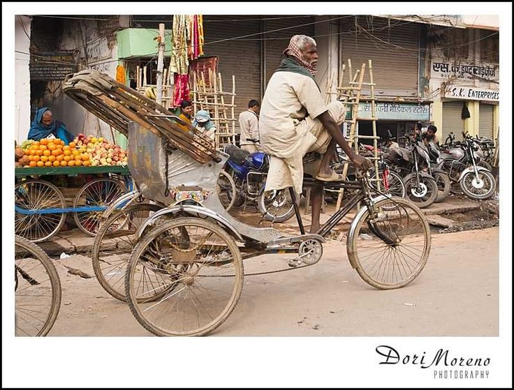 Bicycles, tricycles, all a form of transport in India