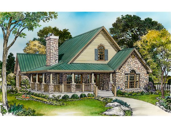rustic+house+plans+with+wrap+around+porches | Parsons Bend Rustic Cottage Home Plan 095D-0050 | House Plans and More