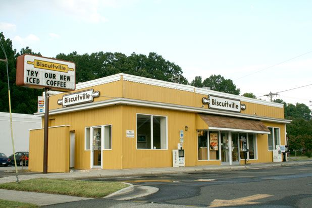 © Wiki/Specious   6. BISCUITVILLE  No, this isn't another 'SNL' parody business. This is the very real, very tasty breakfast-centric restaurant that offers all biscuits, all the time. Your morning will be spent analyzing the seemingly endless ways you can enjoy a biscuit for breakfast with a choice of any of their seven breakfast-friendly sides.
