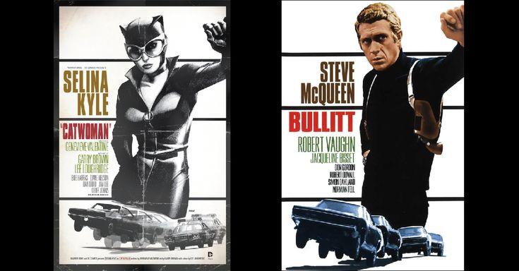 Hace unos años que DC Comics decidió hacer un homenaje al mundo del cine colocando a algunos de sus superhéroes (y a algún que otro villano) en carteles de películas famosas. Así, vimos a Catwoman