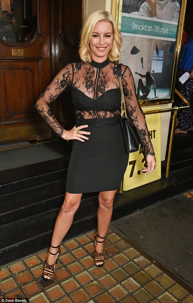 Hot mama! Denise van Outen donned a daring dress at the Breakfast at Tiffany's press night on Tuesday