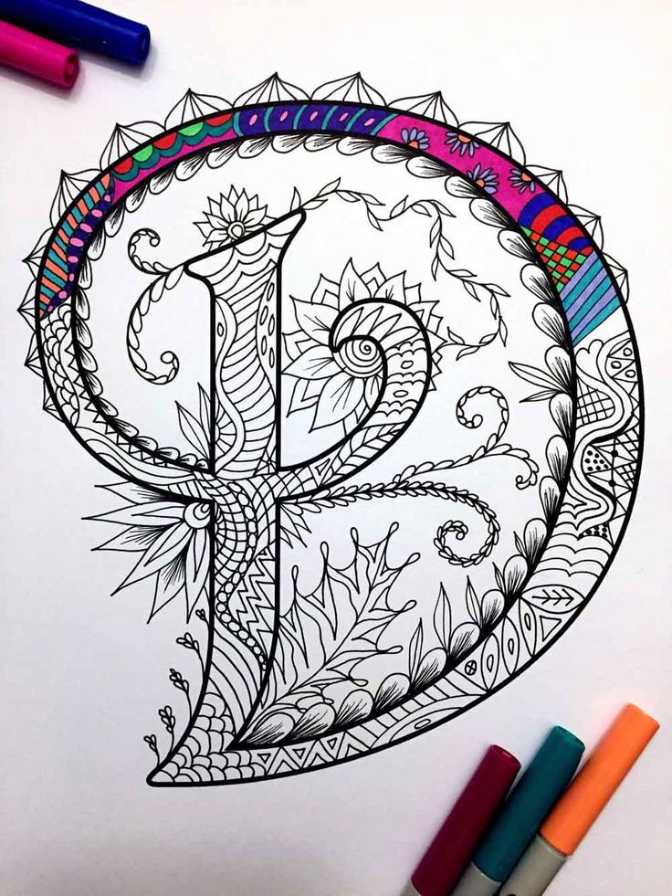 "Letter D Zentangle - Inspired by the font ""Harrington"" by DJPenscript on Etsy https://www.etsy.com/listing/269795871/letter-d-zentangle-inspired-by-the-font"