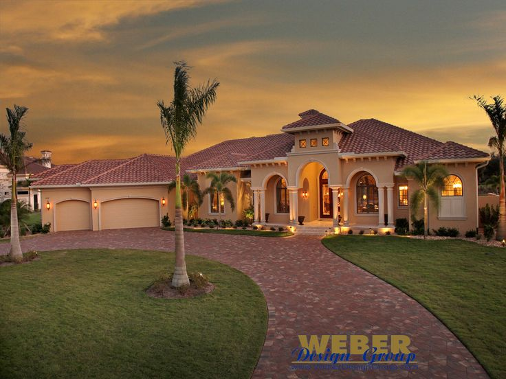Tuscan Style Homes | Tuscan House Plan | Villa Napoli House Plan - Weber Design Group