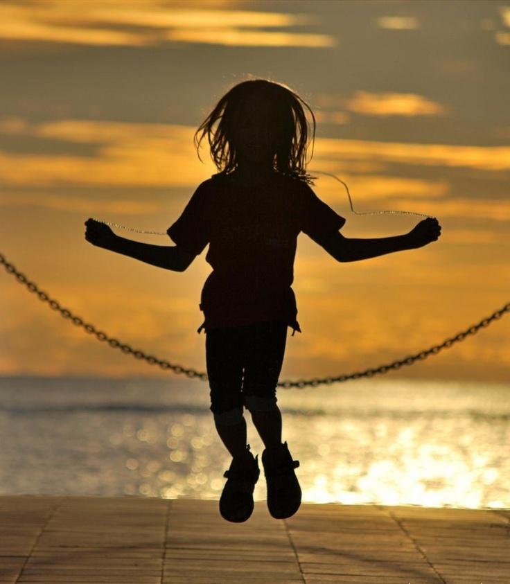 : Ropes Joy, Jumping Ropes, Childhood Memories, Childhood Innocent, Child Plays, Sunrise Sunsets, Sunri Sunsets, Enjoying Life, A Quotes