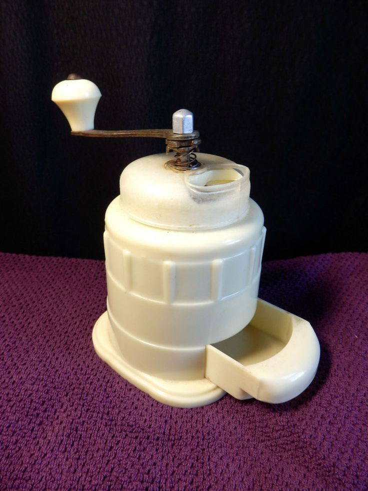 RARE Vintage white bakelite  KM  moderna midcentury East. block coffee grinder