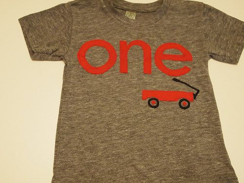Red Wagon shirt Radio Flyer first birthday organic heather blnd Birthday shirt customize colors on Etsy, $35.00