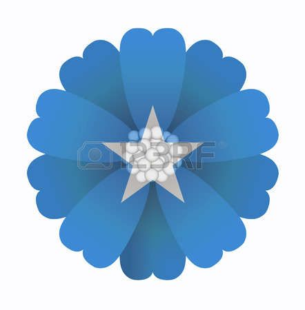 illustration of flower Flag Somalia photo