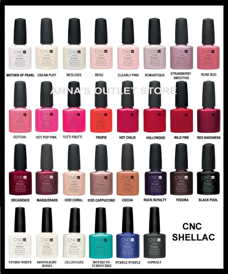 Opi Gel Nail Polish Color Chart CND Shellac UV Nail Polish