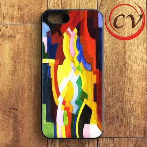 Augustmacke Abstract Cubist iPhone SE Case