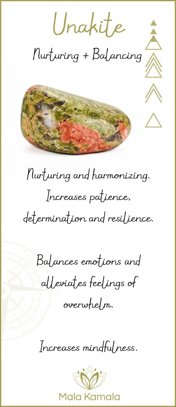 Root, Solar Plexus, Heart & Sacral Chakra Gemstones. Unakite - A stone for nurturing and balance. Nurturing and balancing.