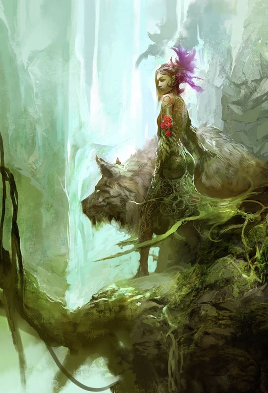Sylvari - Guild Wars 2 Game Art by Kekai Kotaki | Creatures from Dreams