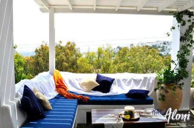 Aloni Paros hotel terrace