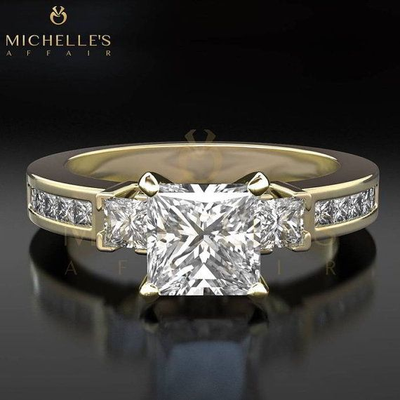 Diamond Promise Ring 2 1/3 Carat G VS1 by MichellesAffairs on Etsy