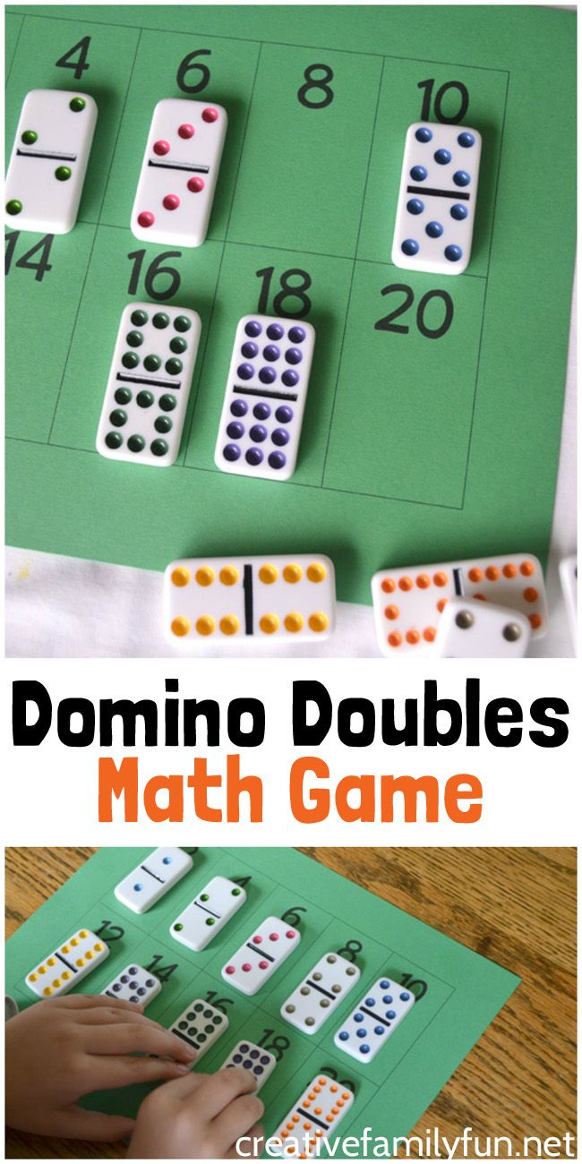 Domino Doubles Math Game Easy Math Games Math Games For Kids Math Games [ 1300 x 650 Pixel ]