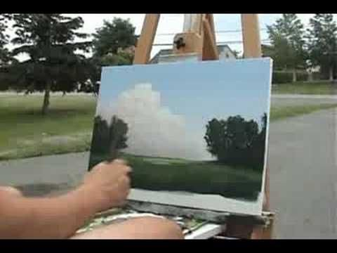 Time Lapse Speed Painting Jacaranda Tree by TIm Gagnon oil/acrylic landscape paintings. - YouTube
