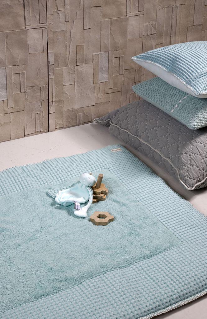 Mint waffle playpen mat | Koeka webshop