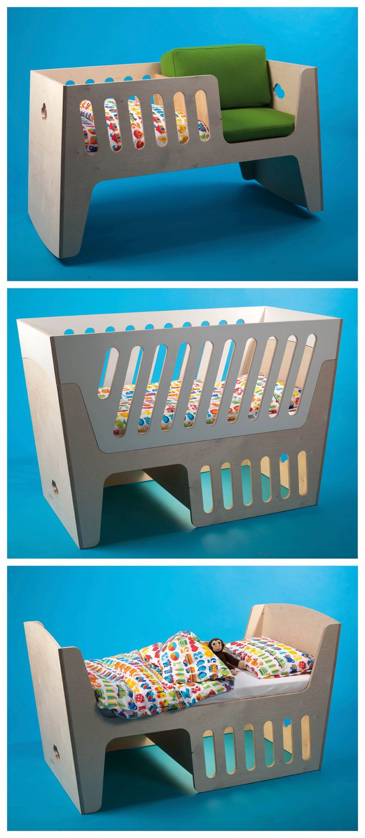 Awesome Cot that can be adapted into a seat as the child grows...