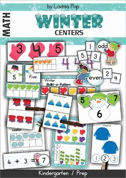 Winter Math CentersThis unit is included in my Winter MEGA BUNDLE! Please do not purchase this unit if you have already purchased the mega bundle!This unit contains 11 centers great for students in Pre-k and Kindergarten, and even Grade 1!The activities included in this unit are:1.